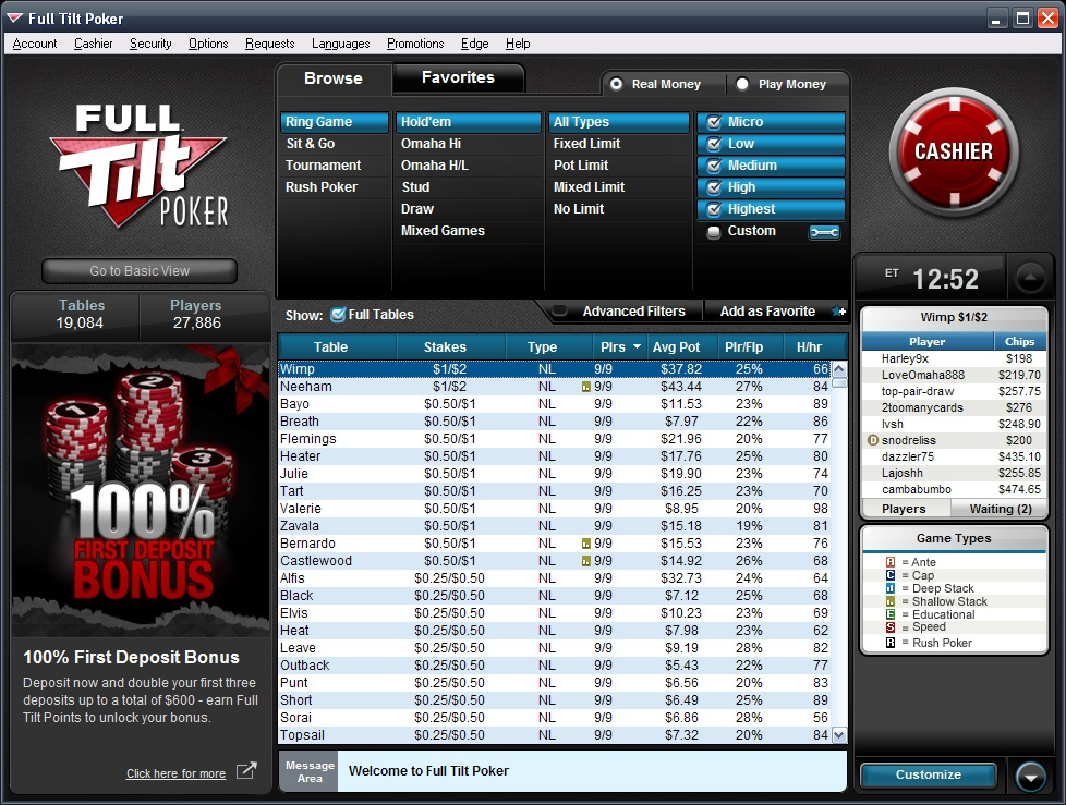 Why is full tilt poker not working