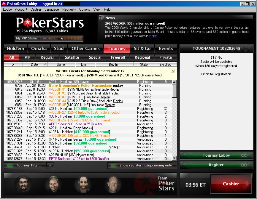 The Star Poker Tournaments